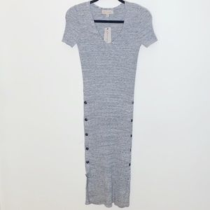 Philosophy Grey Button Maxi Dress